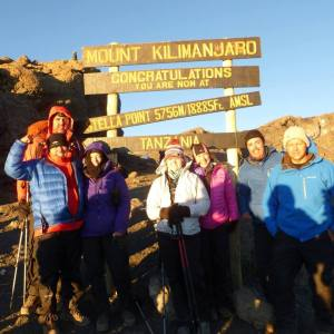 REMAX Team at Stella Point of Mount Kilimanjaro