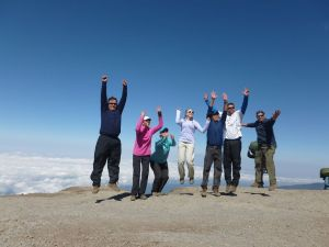 REMAX Team Jumping on Summit of Mount Kilimanjaro